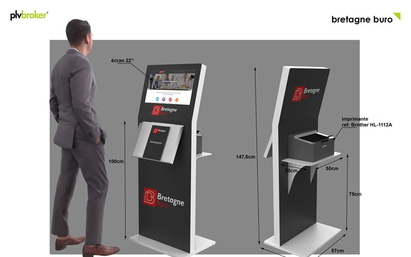 Plv sur mesure fabrication plv digitale for Buro bretagne